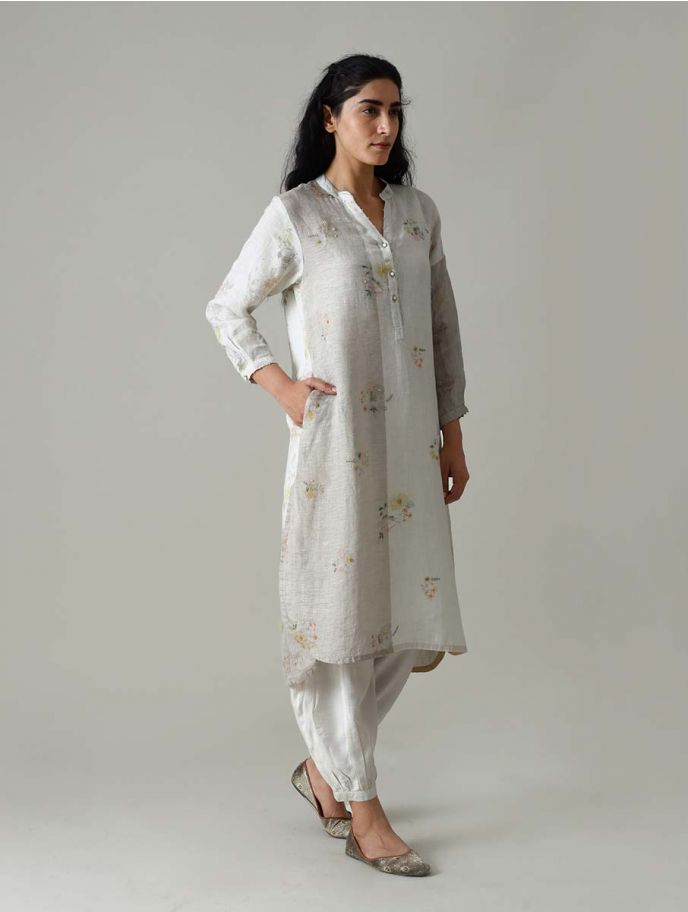 Kaira Printed and Embroidered Kurta