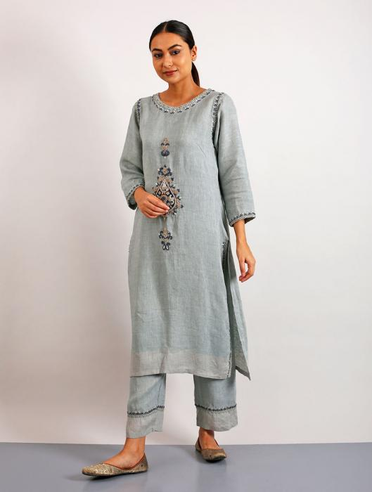 Anong Appliqued and Hand-Embroidered Kurta