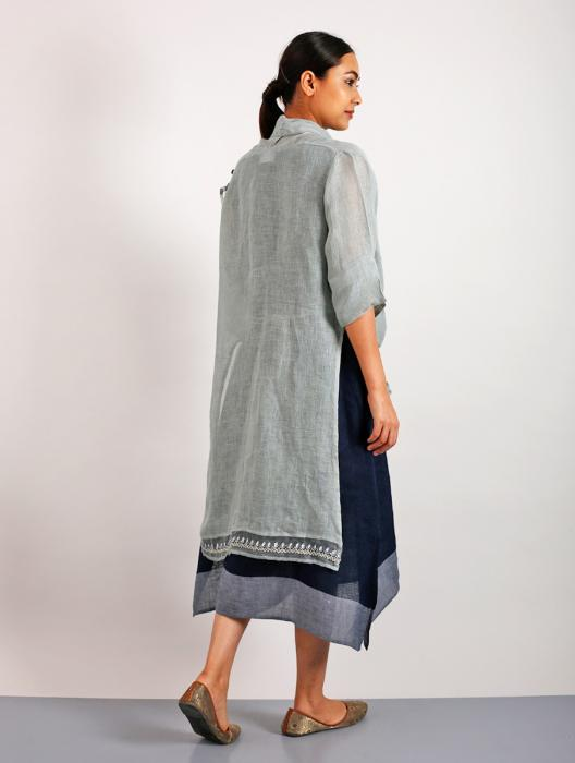 Rochana Gotapatti Embroidered Linen Shrug Jacket