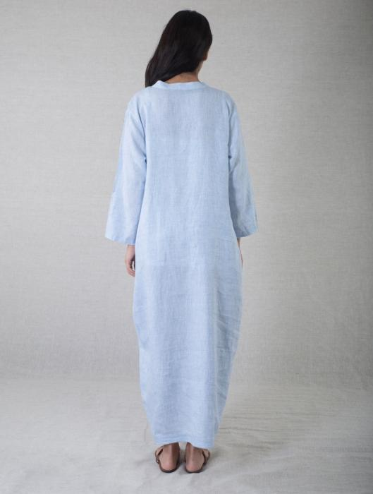 Johanna Asymmetrcial Linen Dress